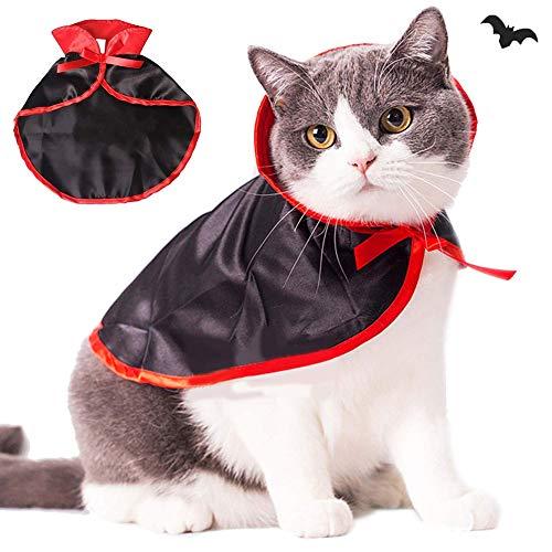 CDSFC-Haustier Kostüme, Halloween Katzen Outfit Kostüme Niedliches Cosplay Vampir Umhang Cape Für Kleine Hunde - Einfach Niedlich Hunde Kostüm