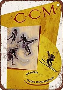 CCM 1930s Patins Reproduction Metal Sign Pancarte en métal Vintage