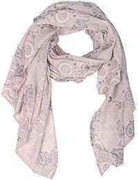 Zwillingsherz Seiden-Tuch für Damen Mädchen Paisley Elegantes Accessoire/Baumwolle/Seiden-Schal/Halstuch/Schulter-Tuch oder Umschlagstuch einsetzbar