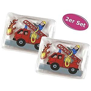 Taschenwärmer Feuerwehr Feuerwehrauto, 2er Set – Wichtelgeschenk, Handwärmer, Taschenheizkissen