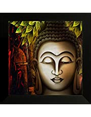 SAF UV Textured Religious Buddha Synthetic Frame Painting