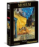 Clementoni 31667.0 - Museum Collection 1500 T Van Gogh, Caféterrasse Bei Nacht, Klassische Puzzle