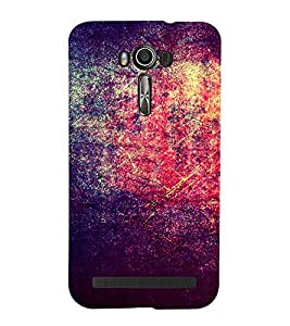 Bright Red Purple Pattern 3D Hard Polycarbonate Designer Back Case Cover for Asus Zenfone 2 Laser ZE500KL (5 INCHES)