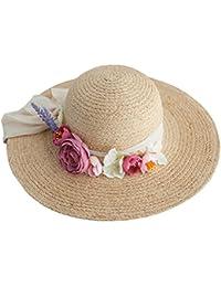 SUSHI Sombrero de Paja Elegante de la Manera - Sombrero del Visera del Día  de Fiesta 8cdf178366f