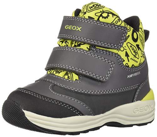 Geox Baby Jungen B New Gulp Boy B ABX B Stiefel, Grau (Dk Grey/Lime C1267), 27 EU