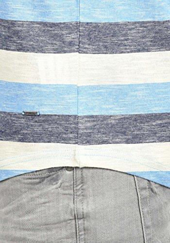 !Solid Thicco Herren T-Shirt Kurzarm Shirt Rundhalsausschnitt Aus 100% Baumwolle Azure Blue (2203)