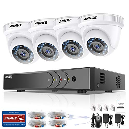 ANNKE Kit Sistema de Seguridad CCTV Cámara de vigilancia Luz estelar...