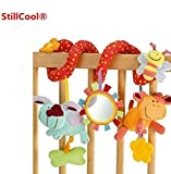 Lijiangshop Baby Children Twisty Spiral Pram Pushchairs Car Seat Cot Musical Bed Bell Colorful Cartoon Toy Gifts