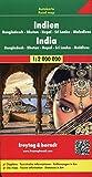 Freytag Berndt Autokarten, Indien - Bangladesch - Bhutan - Nepal - Sri Lanka - Malediven, Autokarte 1:2.000.000 (freytag & berndt Auto + Freizeitkarten) - Freytag-Berndt und Artaria KG