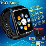 Reloj Inteligente Smart Watch Relojes Deportivos con Camara Whatsapp Bluetooth Smartwatch Pantalla Táctil Teléfonos Inteligentes Compatible iPhone Samsung Huawei Android iOS Hombre Mujer Niño Niña