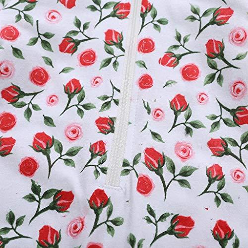 MHC~KJ Newborn Infant Kids Baby Girls Floral Hooded Zipper Long Sleeve Romper Jumpsuit Red Image 7