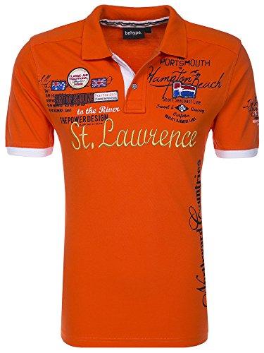 Behype Herren Poloshirt ST. LAWRENCE Kurzarm T-Shirt 20-301 Orange