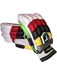 Totalmente guantes de bateo de cricket críquet diestros tamaño de prueba de los hombres