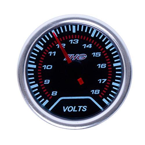 Preisvergleich Produktbild THG Super Bright LED Universal- Fit 55mm Automobil Mechanische Smoked Digitale Volt Voltmeter Spannungsmesser f¨¹r Meter LKW-Auto Auto Motor SUV