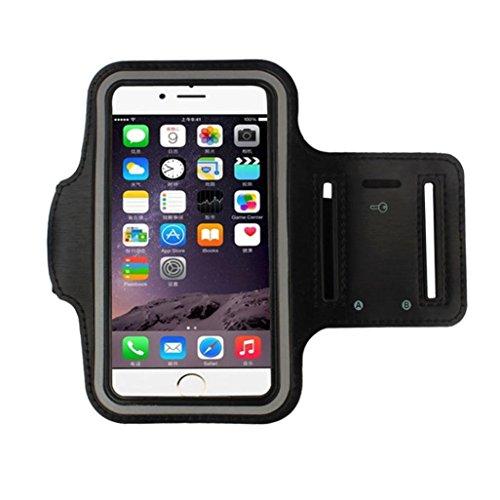 Tongshi Para iphone 7 Plus 5.5 Inch, Brazalete Running Sport caso de la cubierta del brazal (Negro)