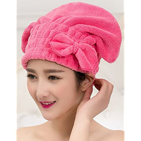 XNWP-Capelli multicolore asciugamano Turbante in Microfibra Wrap , pink