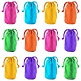 Super Z Outlet Neon Canvas Bags with Drawstring Closure, 7 x 4.5-Inch (12 Bags) by Super Z Outlet