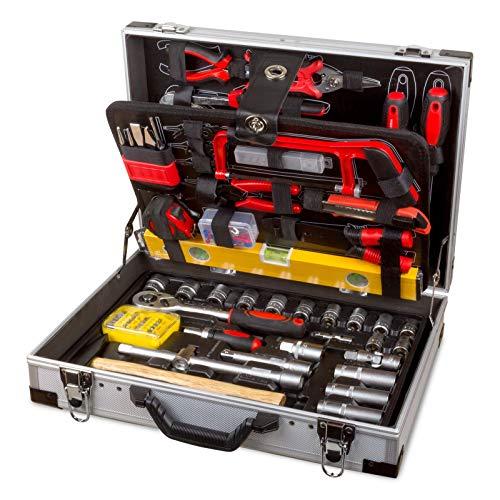Professioneller Werkzeugkoffer 139tlg Alukoffer inkl. Ratschenschlüssel