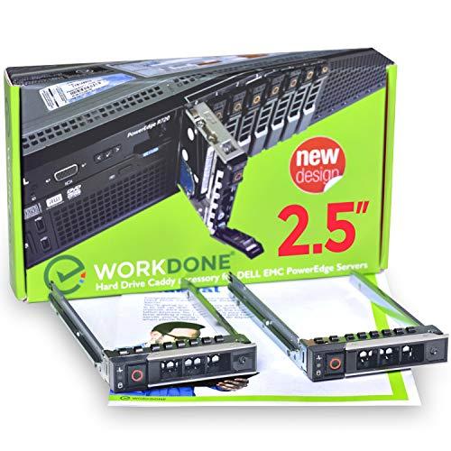 WORKDONE 2er Pack 2,5-Zoll Hard Drive Caddy - Festplattenrahmen für Dell PowerEdge Server und XC-Serie - 14. Generation R440 R640 R740 R740xd R840 R940 R7425 - SSD SAS SATA NVMe Halterung Träger