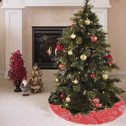 ZHANGhome Weihnachtsbaum Rock Nette Farbige Kreative Boxhandschuhe Drucken Flagge Baum Rock Polyester Günstige Weihnachtsbaum Rock Teppich Für Party Urlaub Dekorationen Weihnachten Ornamente