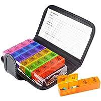 Baoblaze Tragbar Pillendose 7 Tage Tablettenbox mit 28 Fächer und Schutzhülle, Luft-wasser verdichtet preisvergleich bei billige-tabletten.eu