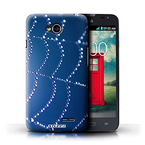 Kobalt® Imprimé Etui / Coque pour LG L70/D320 / Bleu conception / Série Toile d'araignée Perles Bleu