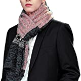 CHIC-CHIC Herren Frauen lang Schal Winter Fashion groß warm weich Strickschal Loopschal Weiseschal (Rosa)