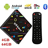 7.1 Android Smart-Box, penkou H96 Max TV Box 4 GB RAM 64 GB ROM rochchip RK3328 Quad-Core 64bit cortex-a53 Smart TV Box with 4 K Ultra HD H.265 WiFi Bluetooth Set-Top Box