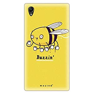 Mozine Buzzin Bee printed mobile back cover for Sony xperia z2