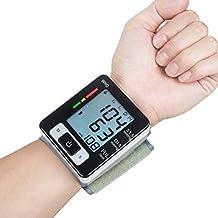 Blutdruckmessgerät Handgelenk Genau erkennt Blutdruck Herzfrequenz & Unregelmäßigen Herzschlag, große Pantalla de cristal líquido (negro)