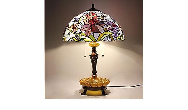 Tiffany Lampen Outlet : Hdo 16 zoll pastoral minimalist lila floral tiffany stil tischlampe