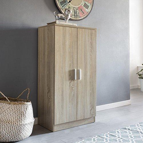 FineBuy Schuhschrank MARTY mit 2 Türen Sonoma 55x108x35 cm Schuhregal Holz geschlossen   Design...