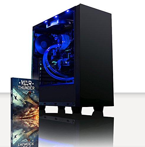 VIBOX Warrior 4.74 PC Gamer - 4,0GHz AMD FX 6-Core CPU, GPU RX 460, Extrême, Ordinateur PC de Bureau Gaming avec Watercooling paquet de jeux, unité centrale, Éclairage Interne Bleu (4,0GHz Overclocké Processeur CPU Six 6-Core AMD FX 6300 Ultra Rapide, Carte Graphique AMD Radeon RX 460 2 Go, 8 Go RAM Team Elite 1600MHz DDR3, Disque Dur 1 To, Refroidissement Liquide Raijintek Triton, PSU 85+, Boîtier NZXT, Pas de Système d'Exploitation Windows)