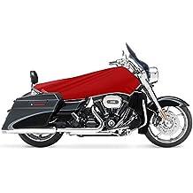 Impermeable V-Twin para motocicleta Kit de viaje–Large (rojo/plata)