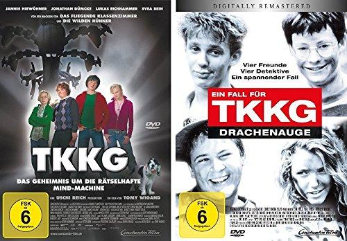 TKKG - Set (das Geheimnis um die rätelshafte Mind-Machine + ein Fall für TKKG - Drachenauge) - Deutsche Originalware [2 DVDs]