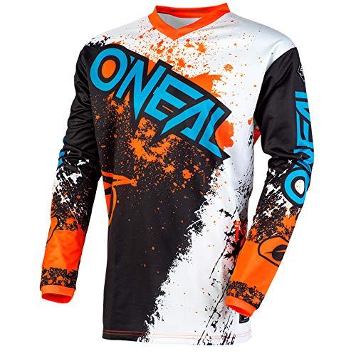 Orange Off-road-trikots (O'Neal Element Impact Jersey Moto Cross MTB MX Mountain Bike Trikot Langarm Shirt Leicht Offroad, E001, Farbe Schwarz Orange, Größe M)