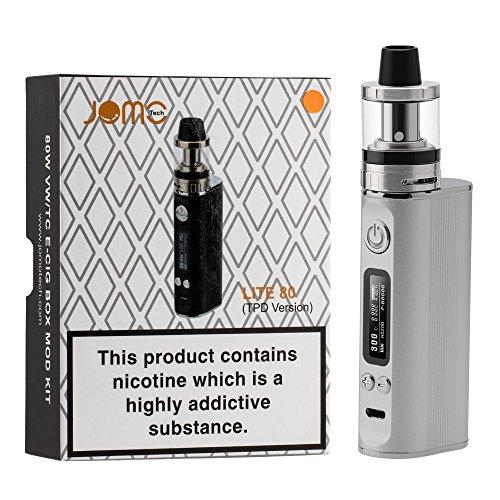 JOMO TECH E-Zigarette Einsteiger-Set Box Mod Lite 80 Akkuträger E Zigaretten Set inkl. Sub Ohm OCC Coil Verdampfer Nikotinfreie Zigaretten Ohne E-Liquid für Einsteiger/Anfänger