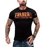 Yakuza Original Herren Brass Knuckles Crew T-Shirt Schwarz Gr.XL