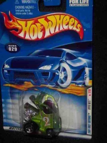 2001 First Editions -#17 Hyper Mite Pink Checkers #2001-29 Collectible Collector Car Mattel Hot Wheels by Hot Wheels Hot Pink Checker
