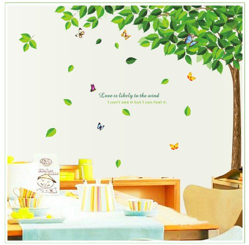 SYGA Green Tree wall sticker decal design 886