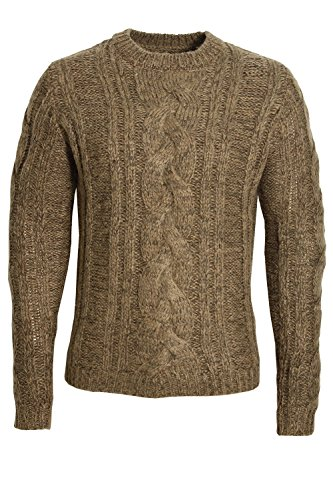 "BELLFIELD Kilmore Chunky Cable Jumper | Chestnut Small 36"" Chest"