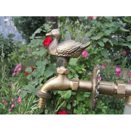 jukunlun Ländlicher Tierformgarten des Dekorativen Hahns Im Freien Landwirtschaftliche Wasserdüse Mit Antiker Bronzeente Für Waschmaschinenhahn (Badewanne Wasserdüsen)