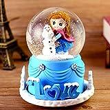 Crystal Ball Music Box Rotary Belt Schneeflocken Bright Sky City Mädchen, Jungen und Kinder Geburtstagsgeschenke, ELSA Red Cape