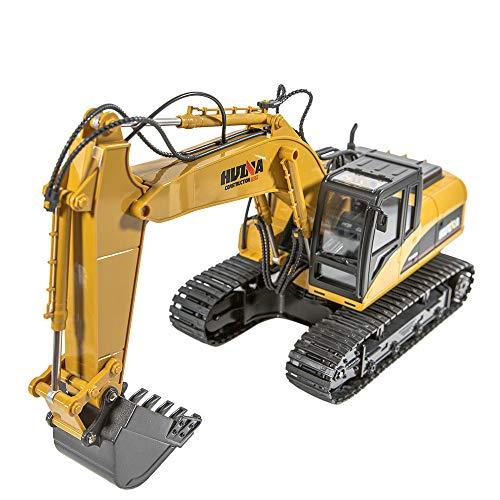 RC Auto kaufen Kettenfahrzeug Bild 2: Hunpta@ Fernbedienung Auto 1:14 rc LKW 15 Kanal voll funktionale Fernbedienung Bagger Bau Traktor Spielzeug Geschenk (A)*