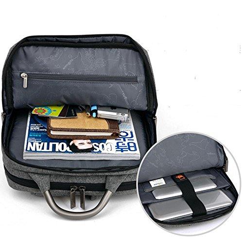 Ambientazione esterna spalla borsa da viaggio di affari Tracolla Borsa per computer , black , 16 inches light gray