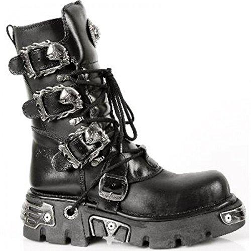 New Rock , Boots biker mixte adulte Noir - Noir