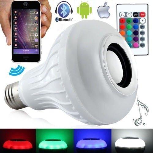 takestop Lampadina Luce LED 7W E27 CLS021 con Speaker Cassa Bluetooth Musica Music per Smartphone E TEBLET