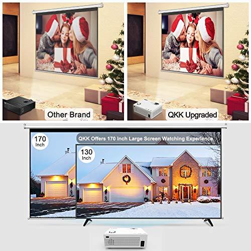 QKK Mini Beamer, unterstützt 1080P Full HD - 2