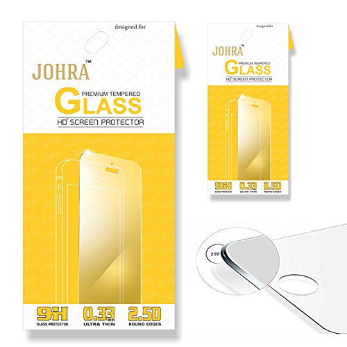 Johra 2.5D 9H HD+ Premium Tempered Glass For Coolpad Note 3S Tempered Glass - Pack of 2