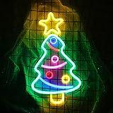 Albero di Natale Insegna al neon Luce al neon LED Arte della luce al neon Decorazioni murali per decorazioni per la camera da letto, Matrimonio, Natale, Festa di San Valentino con cavo USB